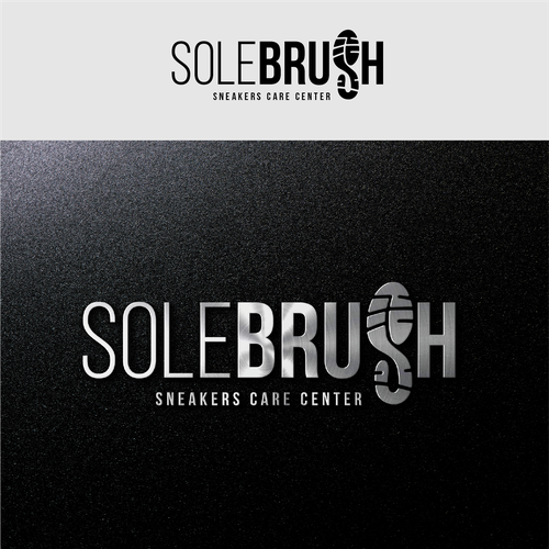 Sneaker logo with the title 'Sole Brush'