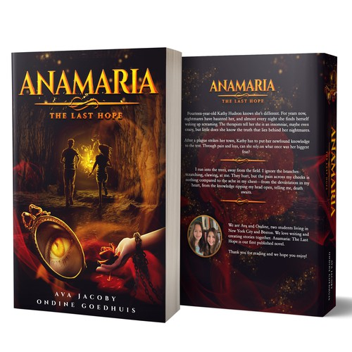 Blood design with the title 'Anamaria: The Last Hope'