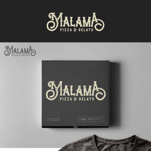 Gelato design with the title 'Malama'