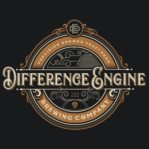 Steampunk logo with the title 'brewery logo'