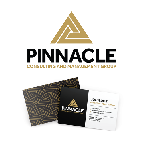 Impossible design with the title 'Pinnacle Consulting and Management Group logo'