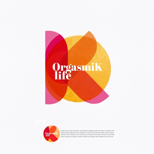 Meaningful design with the title 'Logo that inspire an OrgasmiK Life.'
