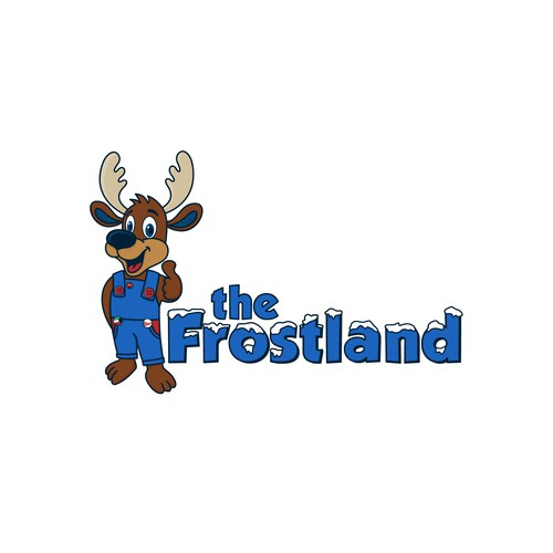 Frozen logo with the title 'Logo The Frostland'