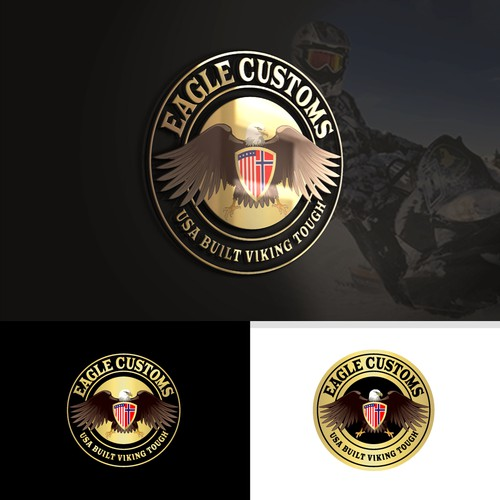Snow logo with the title 'Eagle Customs'