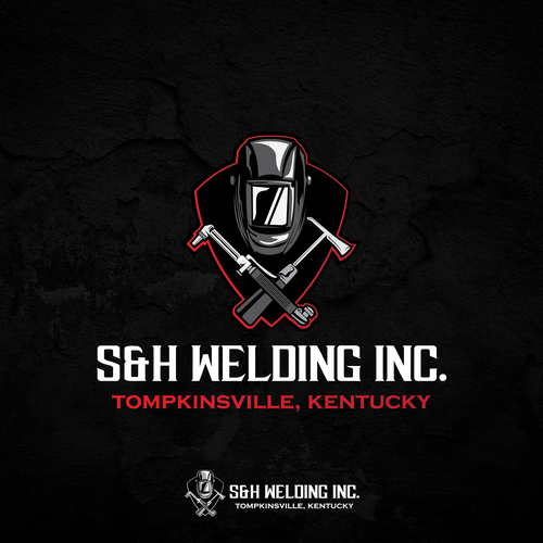 Welding design with the title 'Emblem Type Logo for a Welding Company'