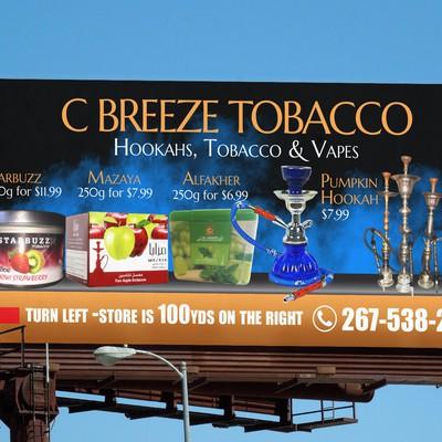 C Breeze Tobacco Billboard