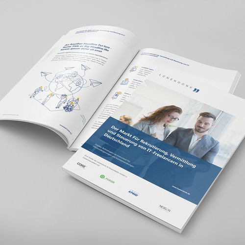 Annual report design with the title 'Whitepaper - Research Report Design'