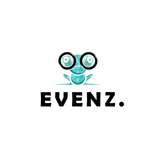 Nerd design with the title 'Events logo'