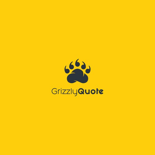 Paw logo with the title 'Grizzly Paw'