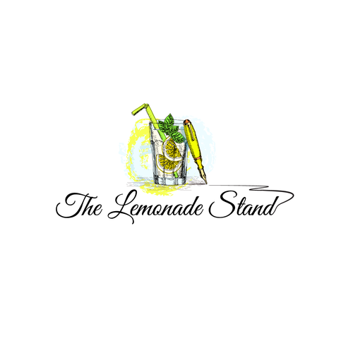 Lemonade logo with the title 'A blog logo'