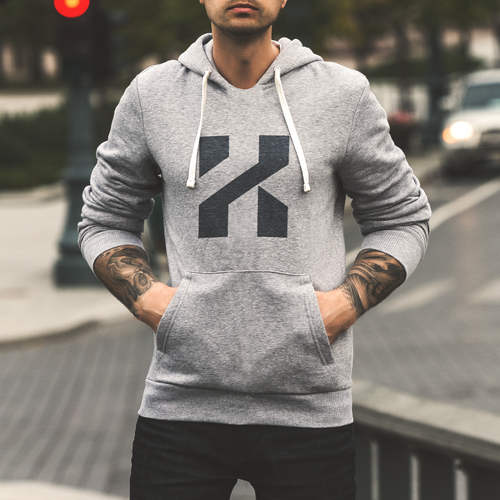 Sharp logo with the title 'Custom lettering for KZM'