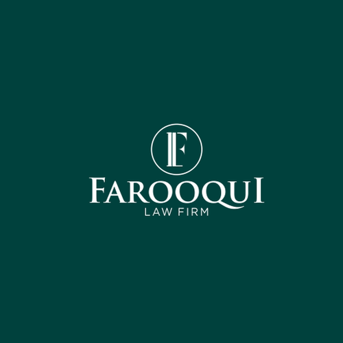 F brand with the title 'FAROOQUI LAW FIRM'