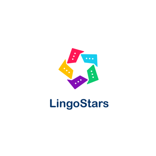 Language school logo with the title 'LingoStars'
