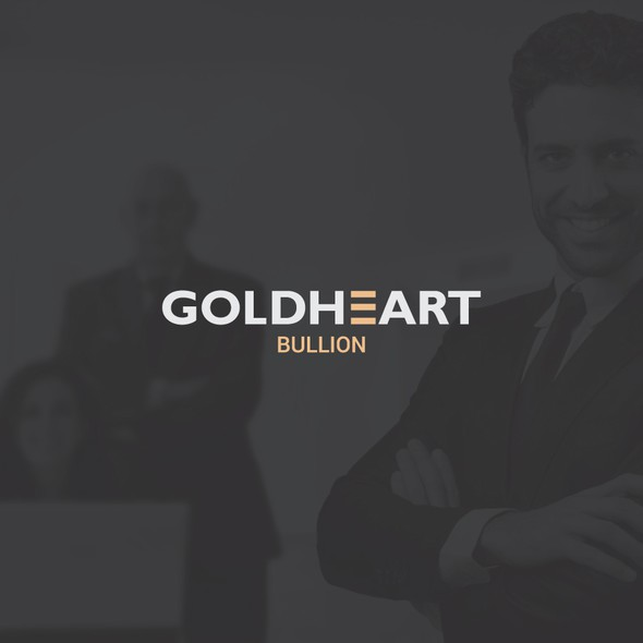 Currency design with the title 'Clean typographic logo for gold currency'