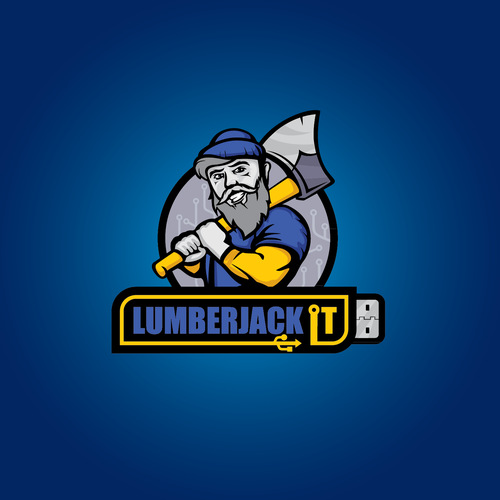 Man brand with the title 'Lumberjack IT'