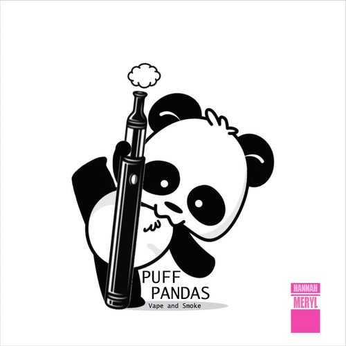 Smoking logo with the title 'Puff Pandas - Logo 1'