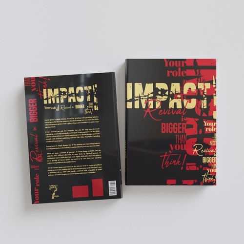 Typography book cover with the title 'Book cover'