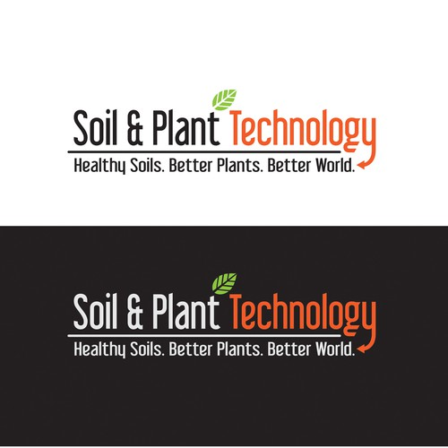 Geology logo with the title 'Help grow a better world with a Logo Design for Soil & Plant Technology.'