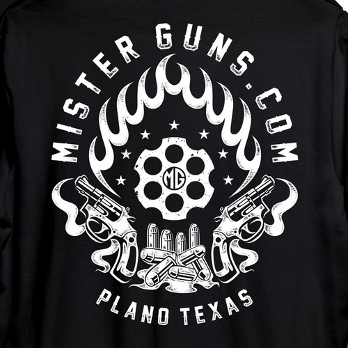 Gun t-shirt with the title 'tshirtdesign'