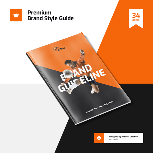 Kuwait design with the title 'Professional Brand Style Guide'