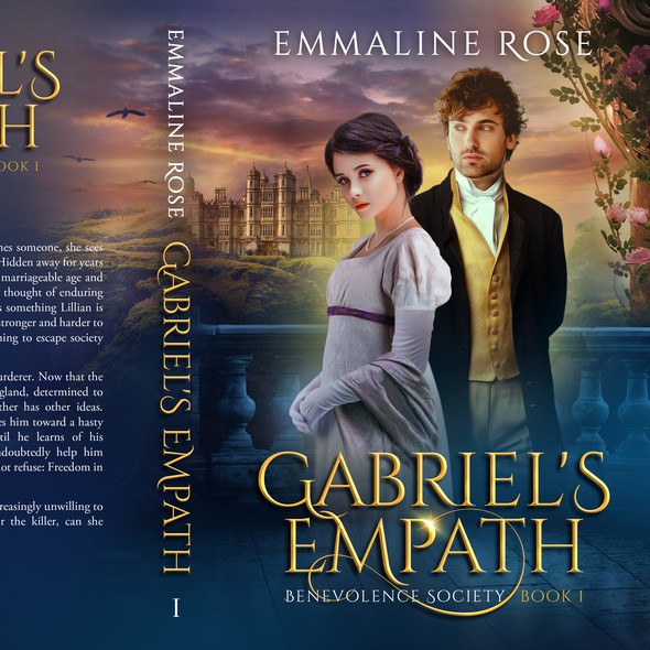Vintage book cover with the title 'Gabriel's Empath - Fantasy Regency Romance'