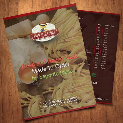 Folder design with the title 'Palo Alto Foods - Brochure'