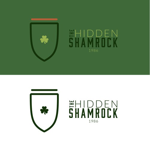Clover logo with the title 'Hidden Shamrock Logo Concept'