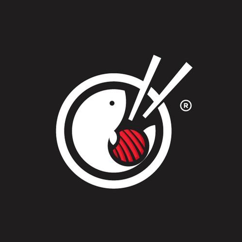 Sushi logo with the title 'Poke Bowl and Sushi Logo '