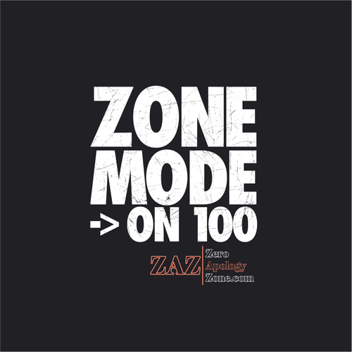 Retro t-shirt with the title 'Zone Mode -> On 100'