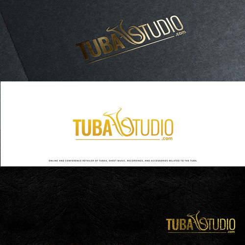 Music studio design with the title 'Logo for TubaStudio.com'