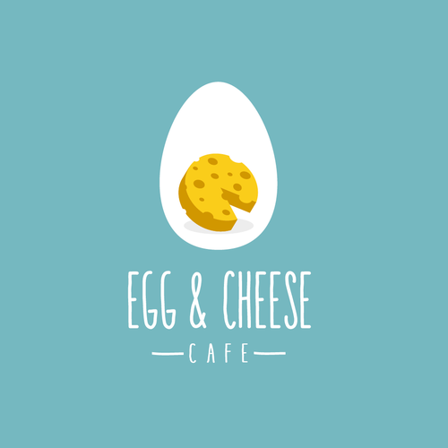 Egg design with the title 'Egg & Cheese Cafe'