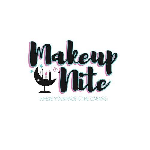 Canvas logo with the title 'Logo concept for makeup/wine parties that are hosted in a restaurant setting'