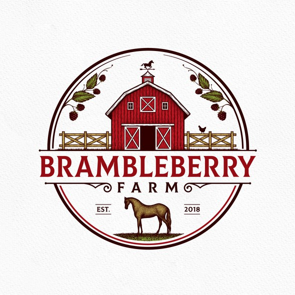 Fence logo with the title 'Brambleberry Farm'