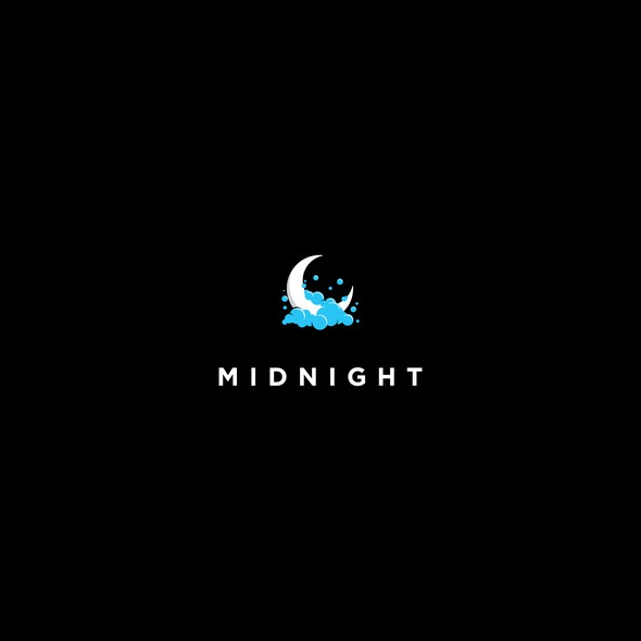 Midnight logo with the title 'Unique Logo Design for Night Car Wash Service'