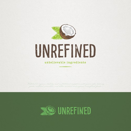 Coco logo with the title 'logo design for Unrefined'