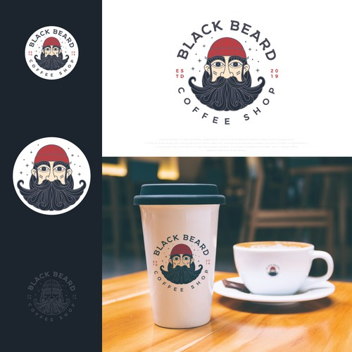 Sailing logo with the title 'Logo design for neighborhood Cozy Coffee Shop'