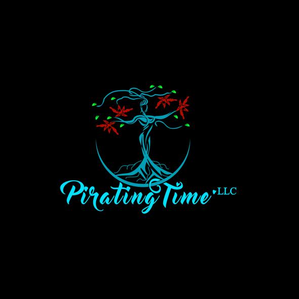 Speaker design with the title 'Logo design for Public speaker, lung cancer patient ambassador: Pirating Time. LLC'