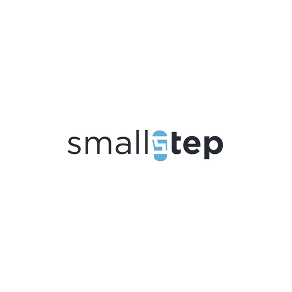 Step design with the title 'Ambitious tech startup wants awesome logo'