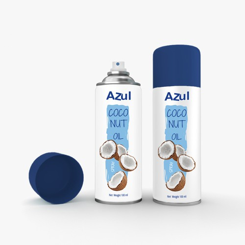Spray bottle packaging with the title 'Oil spray can'