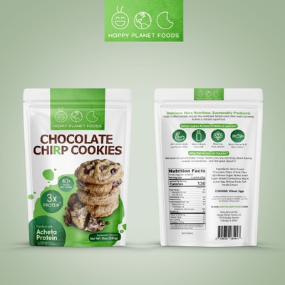 Chocolate Chirp Cookies packaging design