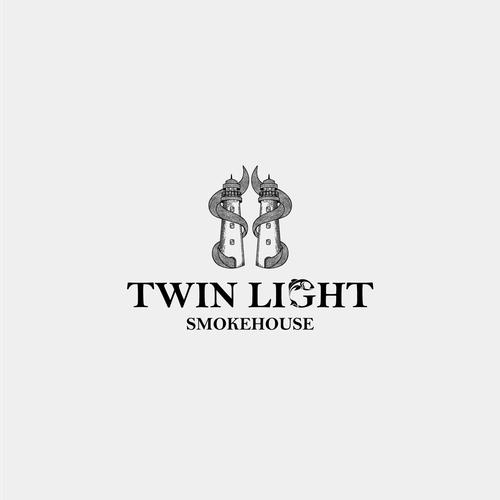 Smokehouse design with the title 'Twin Light smokehouse'