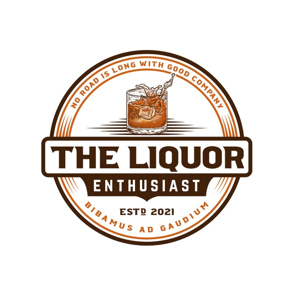 Liquor logo with the title 'Modern logo for social media page'