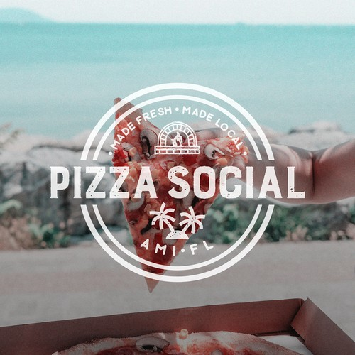 Pizza logo with the title 'Logo for Pizza Social'