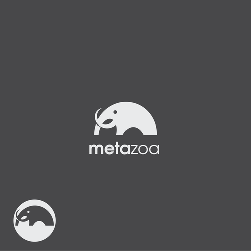 Mammoth design with the title 'Logo concept for Metazoa'