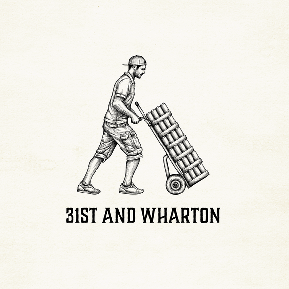 Wholesale logo with the title 'Logo-illustration for 31st and Wharton  - wholesaler based in Philadelphia'