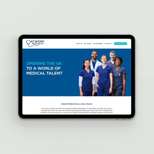 Doctor design with the title 'Atwork Medical. London, The UK'