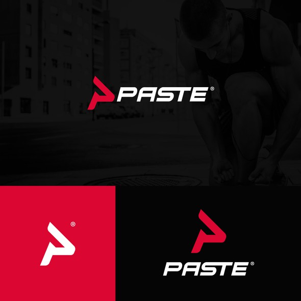 P design with the title 'Paste Sportwear'