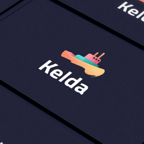 Young design with the title 'Kelda logo and business card'