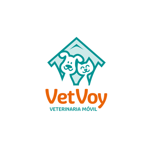 Friendly logo with the title 'Modern and friendly logo for vet health care'