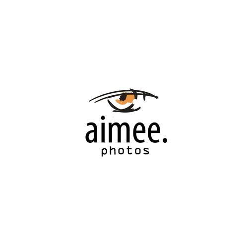 Sketchy logo with the title 'aimee photos logo'